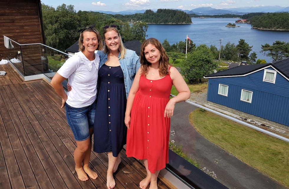 Lilli Løvås Storebø, Isabel Njåstad Solberg og Camilla Knudsen Pamer ynskjer å hjelpa familiar med økonomiske utfordringar gjennom den frivillige organisasjonen Hjerterom i havgapet.