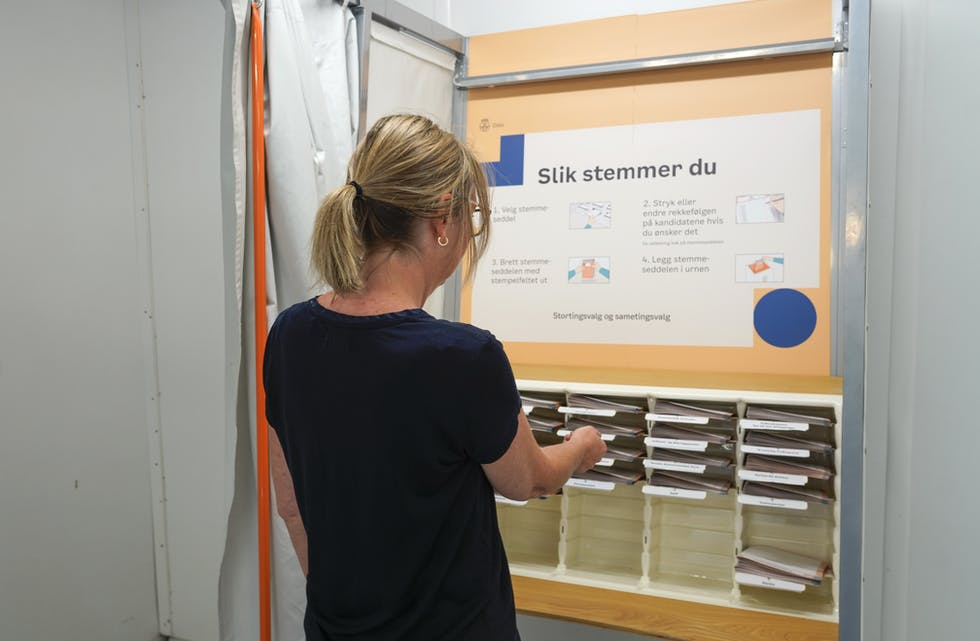 Rekordmange veljarar har førehandsstemt i år. Foto: Terje Bendiksby / NTB / NPK