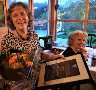 Ruth Johnson fekk tildelt kulturprisen for 2020 av Austevoll kommune.